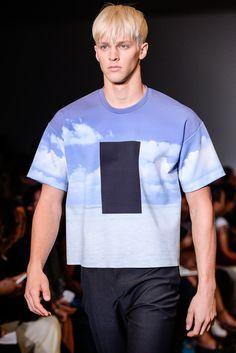 Calvin Klein Collection Spring 2014 Menswear #print