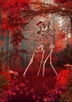 The passion of Sangre Isla Skeleton Love, Skeleton Art, Skeleton Dance, Dark Fantasy Art, Dark Art, Creepy, Art Of Dan, The Lovely Bones, Skull Pictures