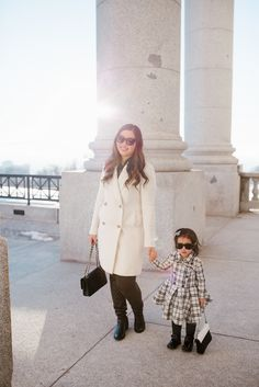 Mommy and Me Outfits by Sandy A La Mode: Classic Black and White Fashion | mommy and me outfit ideas | mommy and me style tips | style ideas for mommy and me outfits | fashionable mommy and me outfits || Sandy A La Mode