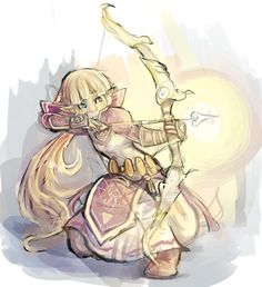 lunie-junk:  Everyone's a-drawnin' their own action!Zelda designs, so, here's a speedpaint of the one from my fem!Link story.I really need to make more things for that.Oh, and reference for the pose is from SenshiStock's gallery!! http://senshistock.deviantart.com/gallery/40726967