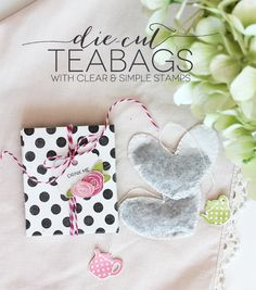 Die Cut Heart Shaped Teabags | Damask Love Blog