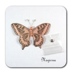 PAPILLON PRESSION 7.5 CM BEIGE - Boutique www.magicreation.fr