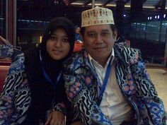 My Sister and My Father at Soekarno Hatta Airport