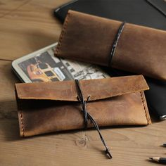 Genuine Leather Pencil Case