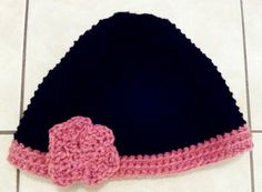 Black and Rose Hat