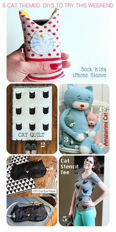 Cat Themed DIY Tutorials and Project Ideas
