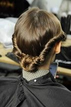 Hair for Valentino fall-winter 2012/13 runway show