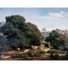 In the Auvergne Mountains Pierre E Theodore Rousseau (1812-1867 French) Oil on canvas Canvas Art - Pierre E Theodore Rousseau (18 x 24)