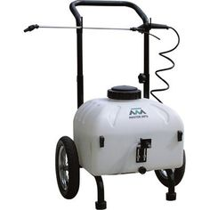 Master Gardener Rechargeable Cart Sprayer is a versatile multi-use sprayer that offers a spray width of up to 50 feet with its front mounted broadcast nozzle. The powerful sprayer delivers up to a 15 feet vertical and a horizontal spray. Starting A Vegetable Garden, Home Vegetable Garden, Power Sprayer, Best Garden Tools, Best Led Grow Lights, Portable Greenhouse, Garden Cart, Grow Tent, Weed Control