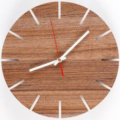 Free Shipping ! Good Quality Mute Creativity Wall Clock European style Clocks For Home Decor  Walnut