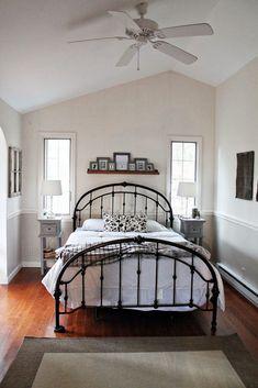 Black, gray and tan bedroom