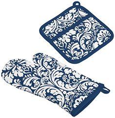 DII 100% Cotton, Machine Washable, Everyday Kitchen Basic, Damask Printed Oven Mitt and Potholder Gift Set, Nautical Blue DII http://www.amazon.com/dp/B00RQ1PDJE/ref=cm_sw_r_pi_dp_jB.Pvb1V255H2