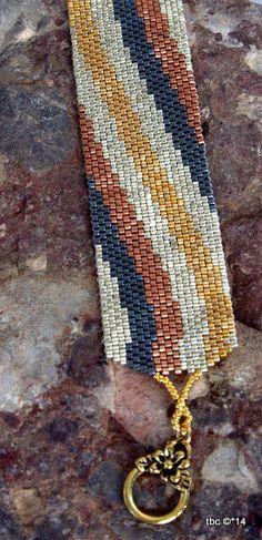 Beadwork Bracelet Arm Candy Seed Bead Bracelet by TombstoneBeads,