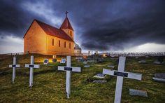 Iceland graveyard