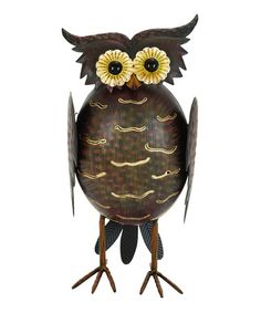 Another great find on #zulily! Brown Textured Owl Stand #zulilyfinds