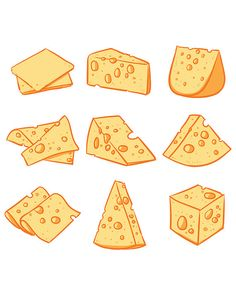 80% Off Sale Vector set of cheese isolated. Hand drawn cheese vector, vector…