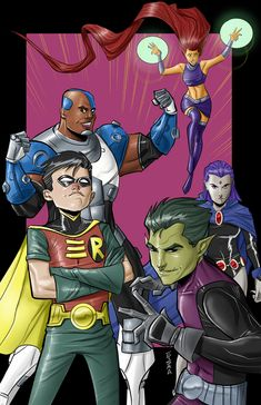 Teen Titans in Color by Supajoe.deviantart.com on @DeviantArt