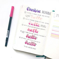 I love these ombré headings so much! Here's a quick tutorial . - #leuchtturm1917 #showmeyourplanner #showmeyourbujo #bulletjournaljunkies #bulletjournal #bulletjournaling #bulletjournallove #bujo #bujojunkie #bujoweekly #bujojunkies #bujocollection #BulletJournalCollection #plannerpicturefeature #tombow #tombowdualbrushpens #lettering #ombre