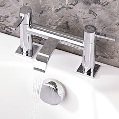 The Series W tub faucet will look sleek and stylish in any modern bathroom