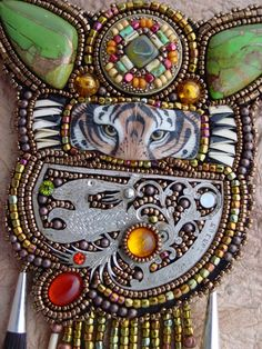 Tiger Time Necklace by HeidiKummliDesigns on Etsy