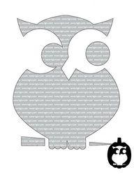 owl pumpkin stencil...