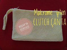 Makrome İpten Clutch Çanta Nasıl Yapılır? - Portföy Çanta - YouTube Crochet Bebe, Knit Crochet, Clutch Tutorial, Net Bag, Magic Ring, Point Lace, Purses And Bags, Crochet Patterns, Reusable Tote Bags