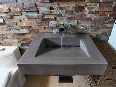 "30"" Floating ADA Concrete bathroom sink by Trueform Concrete #TrueformConcrete #OurSinks"