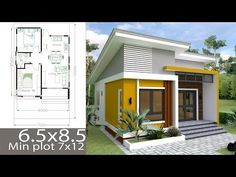Small 5 Bedroom House Plans Beautiful Small Home Design Plan 6 with 2 Bedrooms Samphoas Simple House Plans, Simple House Design, Tiny House Plans, Modern House Plans, Tiny House Design, Modern House Design, Two Bedroom Tiny House, 2 Bedroom House Plans, Villa Design
