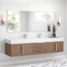 Get inspired by Modern Bathroom Design photo by Room Ideas. Wayfair lets you find the designer products in the photo and get ideas from thousands of other Modern Bathroom Design photos. Single Bathroom Vanity, Bathroom Vanities, Bathroom Ideas, Bathroom Renovations, Bathroom Organization, Bath Ideas, Bathroom Bin, Bathroom Trends, Bathroom Layout