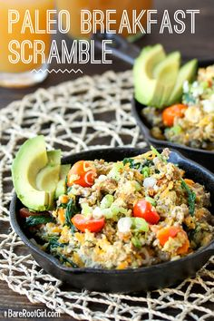 Here's a really easy breakfast scramble inspired by this breakfast skillet . It's a good one to have in your arsenal and after doing it once or  twice, can probably be done in your sleep. Although it's best to get your  yolks raw, sometimes scrambled eggs sound so delicious. Add in a complex  carb source like sweet potato/squash (go for carrots if you are low-carbing  it) and even chia seeds for fiber -- eggs are a great way to hide them --  and you've got a complete meal.  I love to…