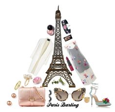 """""""Paris Outfit"""" by jessica-marks ❤ liked on Polyvore featuring Nicole Miller, Charlotte Olympia, Miu Miu, Alexander Wang, Aspinal of London, Ross-Simons, Bloomingdale's, Jennifer Meyer Jewelry, Smashbox and Rimmel"""