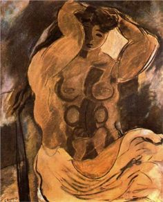 Georges Braque (1882 - 1963) | Post-Impressionism | Nude - 1908