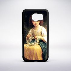 William-Adolphe Bouguereau - Child Braiding A Crown Phone Case