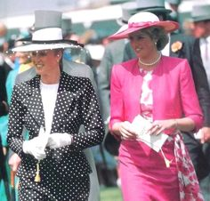 Miss Honoria Glossop:  1987-The Duchess of York and Princess of Wales at Ascot