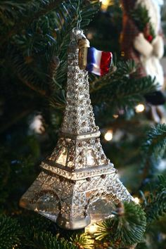 Hanging out on the Christmas Tree Eiffel a Day Project  #eiffeltower…
