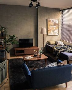 Home Decor Ideas - Beautiful And Comfortable Bedroom Decor Ideas Bedroom Setup, Home Decor Bedroom, Home Living Room, Bedroom Ideas, Small Room Interior, Home Interior Design, Interior Styling, Mens Room Decor, Small Apartment Bedrooms