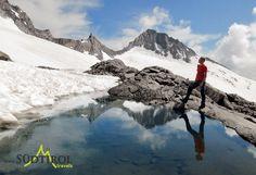 Bergsteiger vom dem mächtigen Turnerkamp