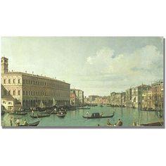 Trademark Fine Art The Grand Canal From the Rialto Bridge Canvas Art by Canatello, Size: 14 x 24, Multicolor