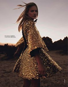 le néo-western: ginta lapina by jan welters for elle france 14th february 201...