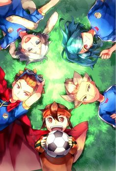 Fubuki, Kidou, Endou, Gouenji, Kazemaru