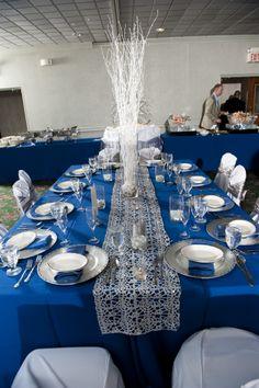 Winter Wedding Tuscan Head Table Set Up