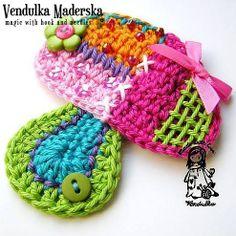 Mushroom applique - crochet pattern, e-book from Magic with hook and needles by DaWanda.com