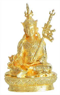 Gold Plated Padmasambhava - Guru Rinpoche (Brass)