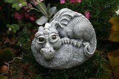 Baby Dragon Statue Devious Devlin Garden Decor by PhenomeGNOME… Outdoor Statues, Garden Statues, Outdoor Art, Garden Sculpture, Sculpture Ideas, Outdoor Decor, Dragon Garden, Pet Dragon, Baby Dragon