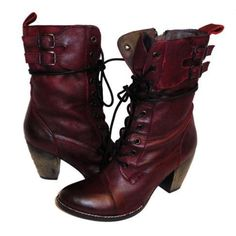 MIA NANETTE LEATHER LACE-UP BOOTS FOR WOMEN