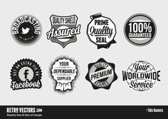 Retro Vector Badges - Freebie!