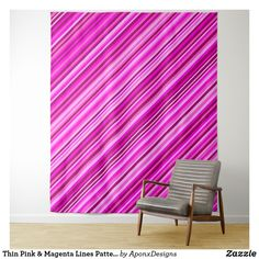Shop Thin Pink & Magenta Lines Pattern Tapestry created by AponxDesigns. Tapestry Pink, Wall Tapestry, Girly Gifts, Pink Gifts, Magenta, Line Patterns, Pink Fashion, Home Gifts, Customized Gifts