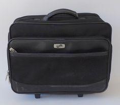 American Tourister Rolling Computer Briefcase Black Travel Lawyer Preacher Bag #AmericanTourister #BriefcaseAttache