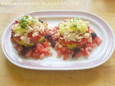 Cocino en Casa: Ensaladilla de berenjena, pimiento, tomate y atún