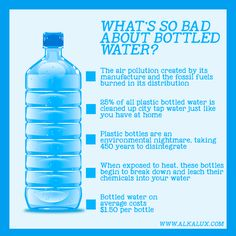 What's so Bad About Bottled Water? Visit our official website: http://www.alkalux.com